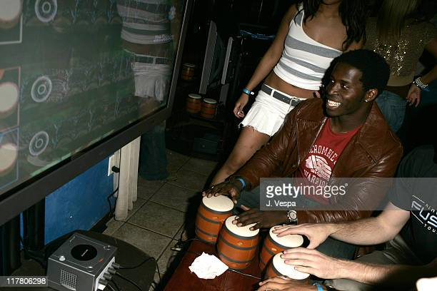 Godfrey gets into the beat with Donkey Konga a new video game for Nintendo Game Cube during a Sept 27th Hollywood party to kick off the Nintendo...