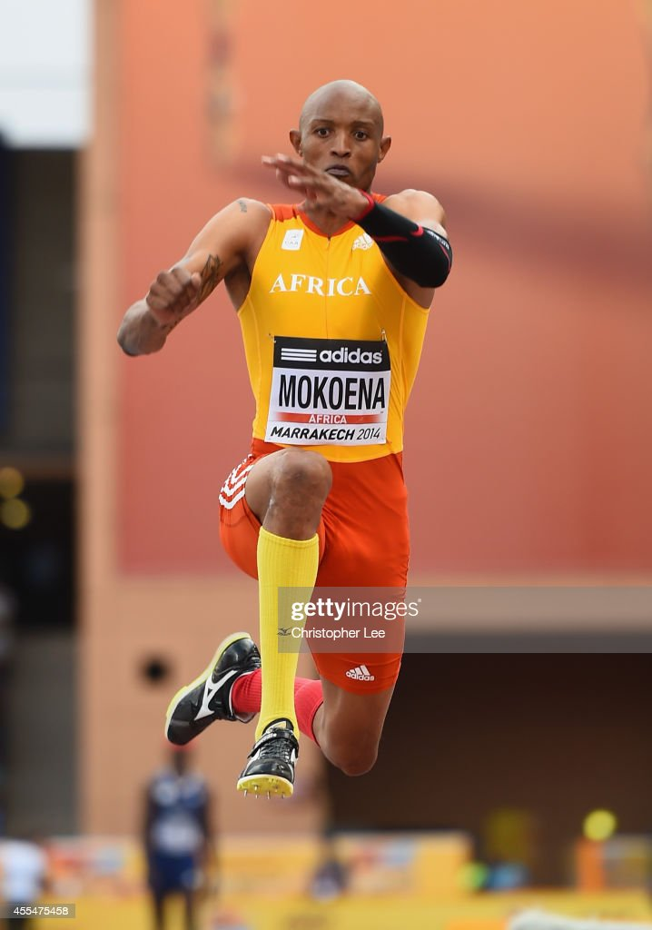 <a gi-track='captionPersonalityLinkClicked' href=/galleries/search?phrase=Godfrey+Khotso+Mokoena&family=editorial&specificpeople=2288523 ng-click='$event.stopPropagation()'>Godfrey Khotso Mokoena</a> of South Africa and Africa in action in the Mens Triple Jump during the IAAF Continental Cup Day 2 at the Stade de Marrakech on September 14, 2014 in Marrakech, Morocco.
