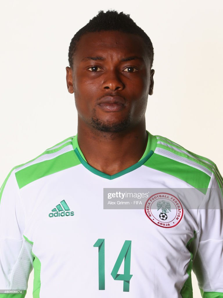 <a gi-track='captionPersonalityLinkClicked' href=/galleries/search?phrase=Godfrey+Oboabona&family=editorial&specificpeople=9435105 ng-click='$event.stopPropagation()'>Godfrey Oboabona</a> of Nigeria poses during the official FIFA World Cup 2014 portrait session on June 12, 2014 in Campinas, Brazil.
