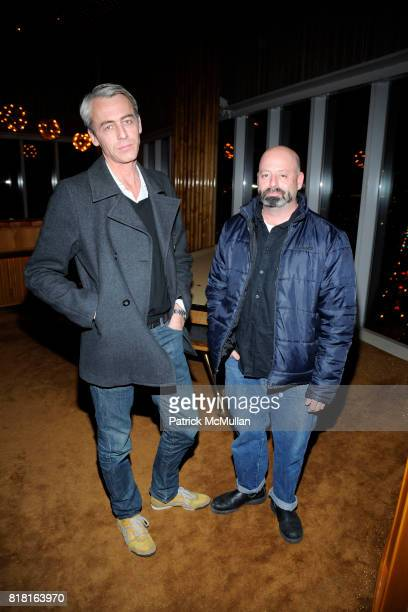 Godin Laurent and David Kramer attend the Cocktail Reception with Casa Dragones Tequila to Celebrate THE ARMORY SHOW's 2011 Artist Commission of...