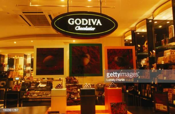 Godiva chocolate shop.