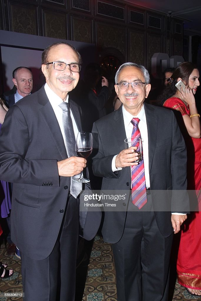 Godrej Group Chairman Adi Godrej (L) and Managing Director Nadir Godrej during the 90th birthday celebrations of Queen Elizabeth II, hosted by the British Deputy High Commissioner Shekhar Iyer, at Crystal Room, Taj Mahal Palace, Colaba on May 26, 2016 in Mumbai, India. Hollywood actor McKellen said, 'I am thankful to the British Council who got me here. It's touching to make contact with other people from theatre, film and Bollywood.'