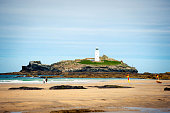 Godrevy Lighthouse, Cornwall, UK
