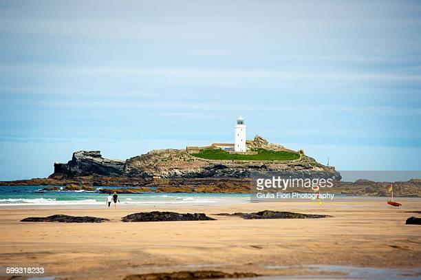 Godrevy Lighthouse, Cornwall, UK