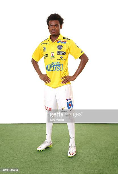 Godsway Donyoh of Falkenbergs FF poses during a portrait session on March 11 2015 in FalkenbergSweden