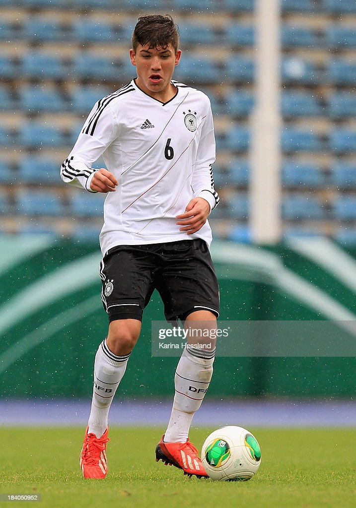 Goekhan Guel of Germany during the friendly match between Germany and Russia at ErnstAbbeSportfeld on October 07 2013 in Jena Germany