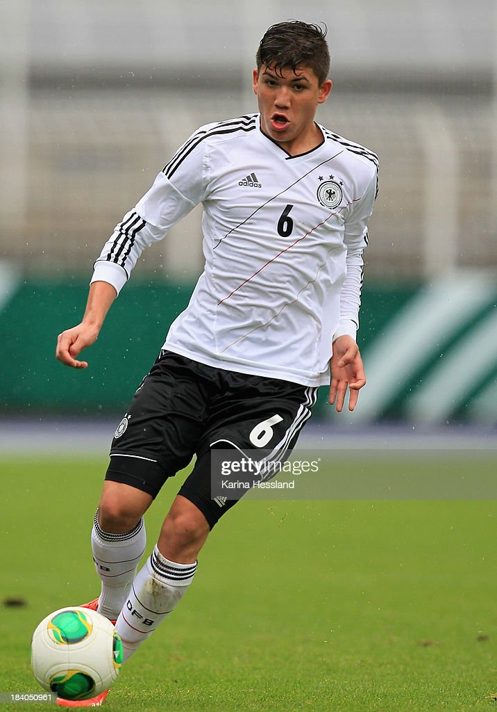 Goekhan Guel of Germany during the friendly match between Germany and Russia at ErnstAbbeSportfeld on October 10 2013 in Jena Germany