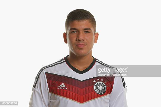 Goekhan Guel of the German national team poses during the team presentation of U17 Germany on September 9 2014 in Abensberg Germany