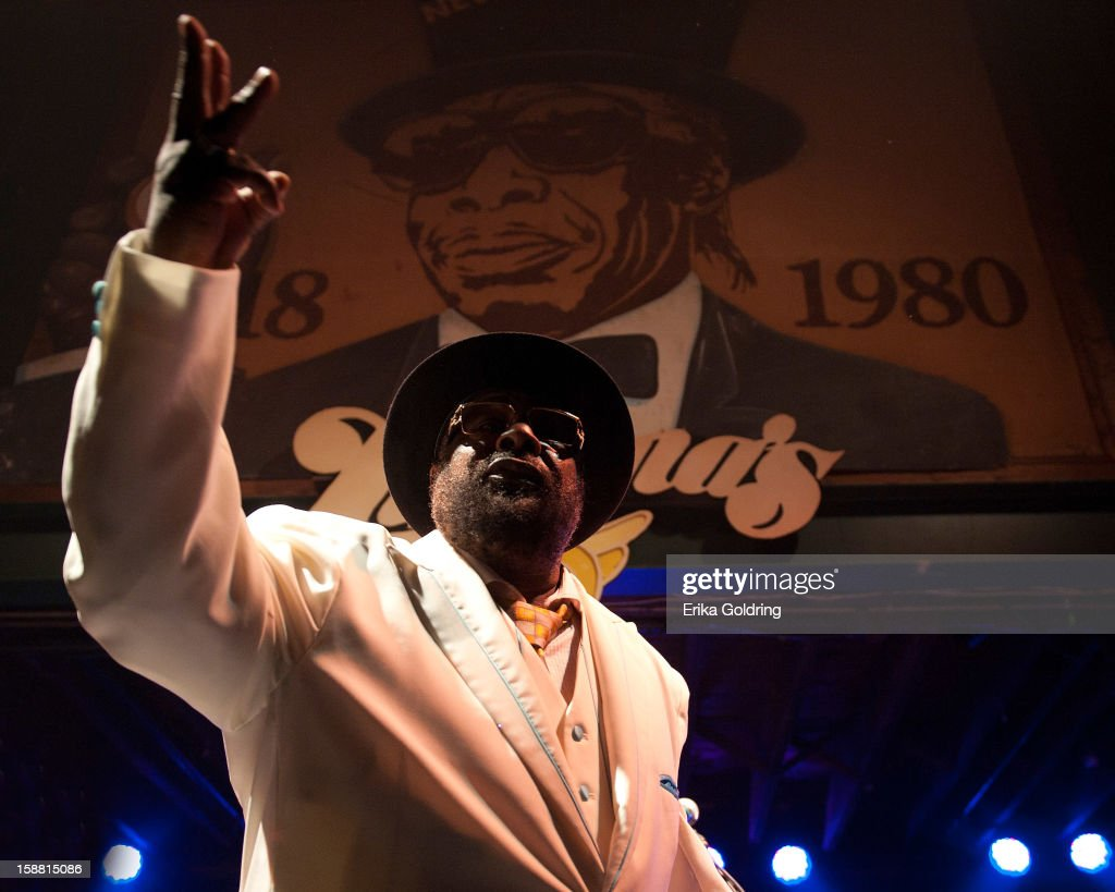 Goerge Clinton of George Clinton and Parliament Funkadelic performs at Tipitina's on December 29, 2012 in New Orleans, Louisiana.