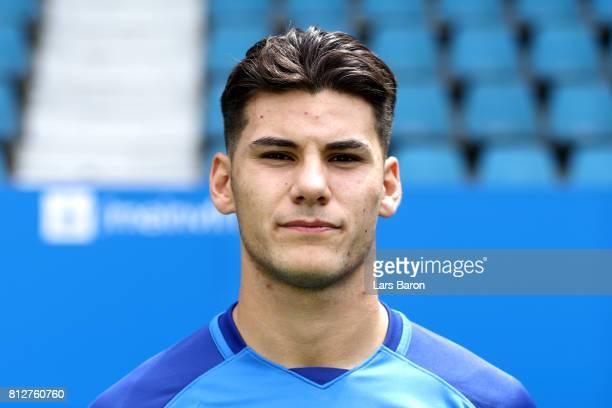 Goerkem Saglam of VfL Bochum poses during the team presentation at Vonovia Ruhrstadion on July 11 2017 in Bochum Germany