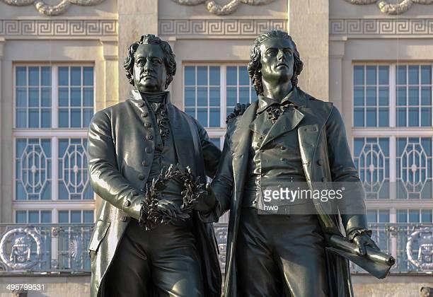 Goethe-Schiller Monument, Weimar, Thuringia, Germany