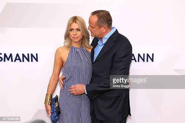 Goetz Elbertzhagen and girlfriend Lydia attend the Bertelsmann Summer Party 2015 at the Bertelsmann representative office on June 18 2015 in Berlin...