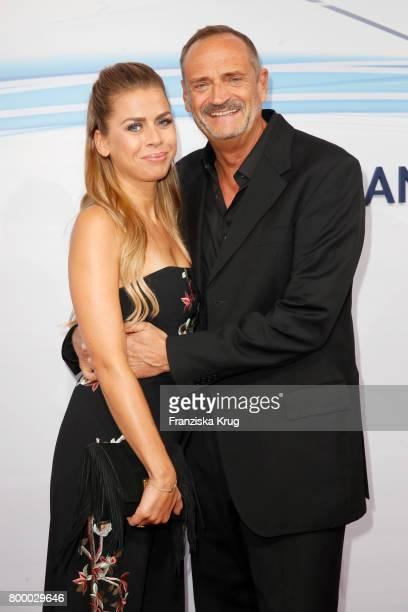 Goetz Elbertzhagen and his girlfriend Lydia Becker attend the 'Bertelsmann Summer Party' at Bertelsmann Repraesentanz on June 22 2017 in Berlin...
