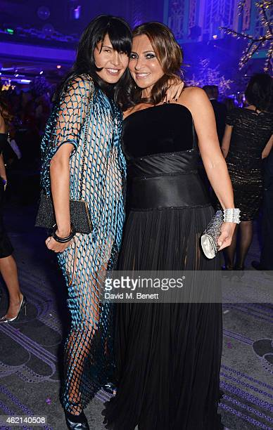 Goga Ashkenazi and Ella Krasner attend Lisa Tchenguiz's 50th birthday party at the Troxy on January 24 2015 in London England