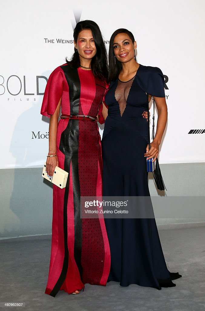 Goga Ashkenazi and Rosario Dawson attend amfAR's 21st Cinema Against AIDS Gala Presented By WORLDVIEW BOLD FILMS And BVLGARI at Hotel du CapEdenRoc...