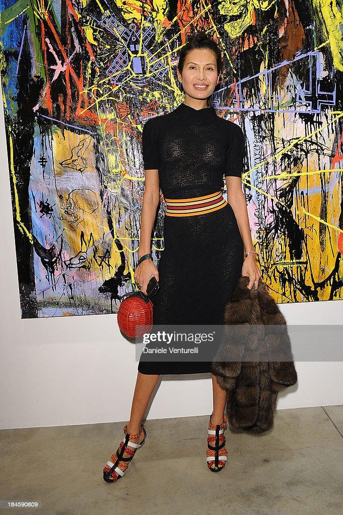 Goga Ashkenazi attends Cardi Black Box Gallery Present Nicolas Pol hosted by Nicolo Cardi And Vladimir Restoin Roitfeld at Cardi Black Box on October 14, 2013 in Milan, Italy.