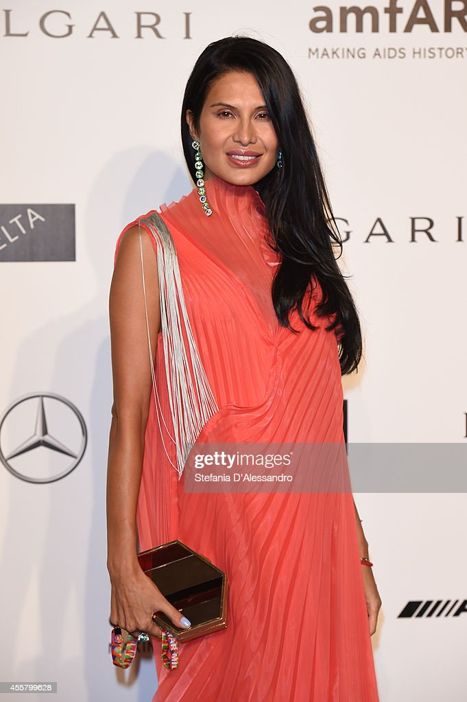 Goga Ashkenazi attends the amfAR Milano 2014 Gala as part of Milan Fashion Week Womenswear Spring/Summer 2015 on September 20 2014 in Milan Italy