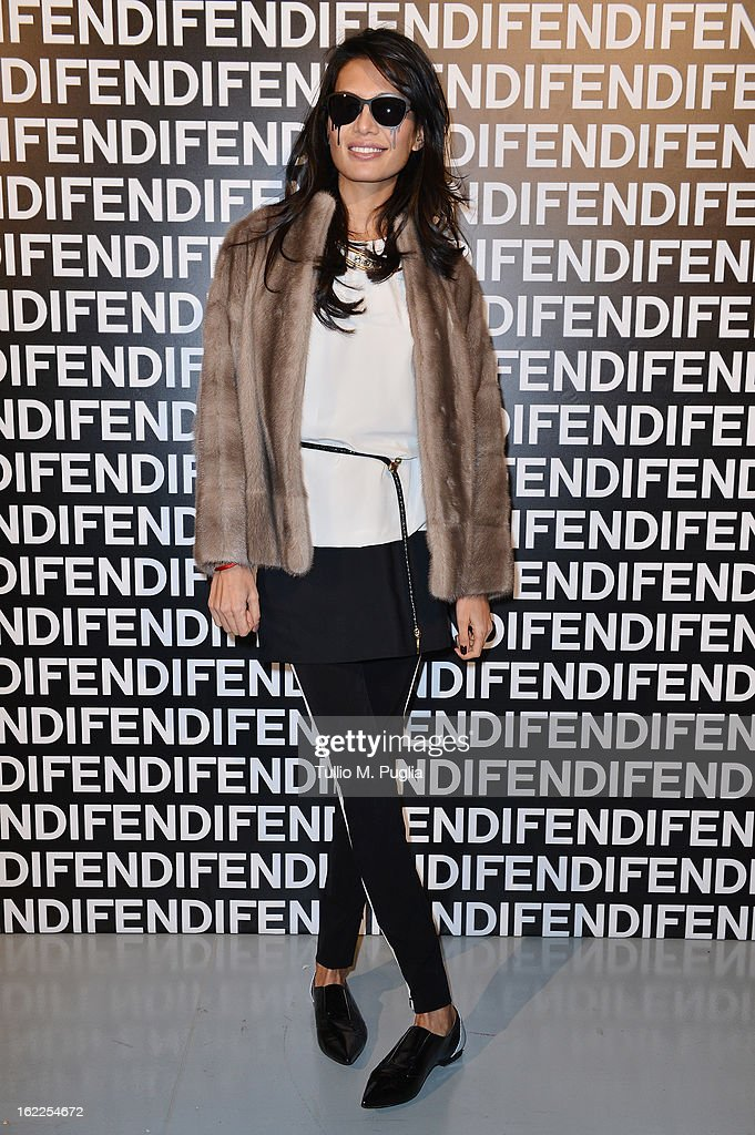 Goga Ashkenazi attends the Fendi fashion show as part of Milan Fashion Week Womenswear Fall/Winter 2013/14 on February 21 2013 in Milan Italy
