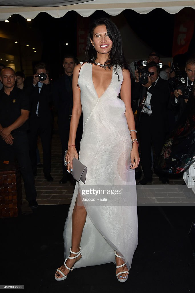 Goga Ashkenazi attends the 'Roberto Cavalli Annual Party Aboard' Outside Arrivals at the 67th Annual Cannes Film Festival on May 21 2014 in Cannes...