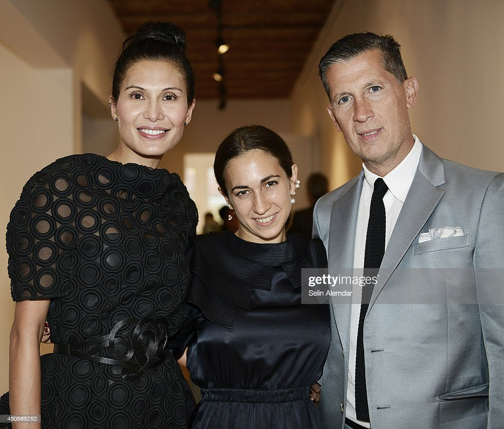 Goga Ashkenazi Delfina Delettrez and Stefano Tonchi attend the opening of the annual international art and culture event 'Istancool' on June 13 2014...
