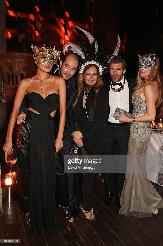 Goga Ashkenazi Sheikh Mohammed Youssef El Khereiji Eva Cavalli Antonio Banderas and Nicole Kimpel attend Eva Cavalli's birthday dinner party at One...