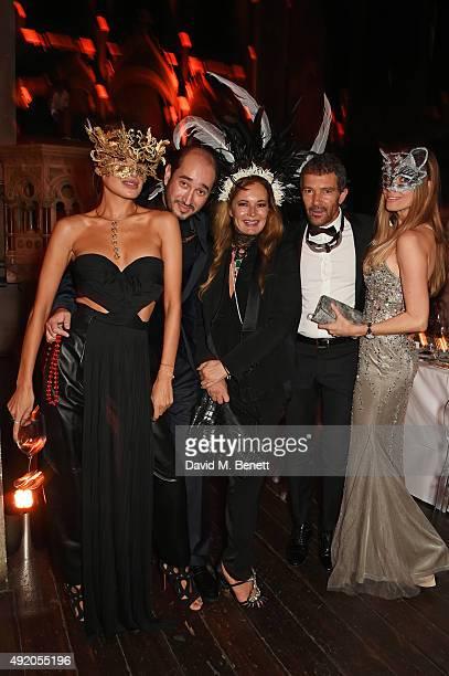 Goga Ashkenazi Sheikh Mohammed Youssef El Khereiji Eva Cavalli Antonio Banderas and Nicole Kimpel attend Eva Cavalli's birthday dinner party at One...