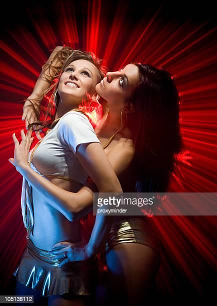 Gogo ballerini in luce laser