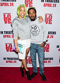 GoGo Morrow and rapper Chill Moody attend 'Brotherly Love' Philadelphia Advance Screening at The Pearl Theater on March 31 2015 in Philadelphia...