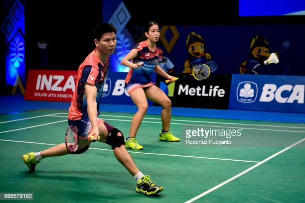 Goh Soon Huat and Shevon Jemie Lai of Malaysia compete against Dechapol Puavaranukroh and Sapsiree Taerattanachai of Thailand during Mixed Doubles...