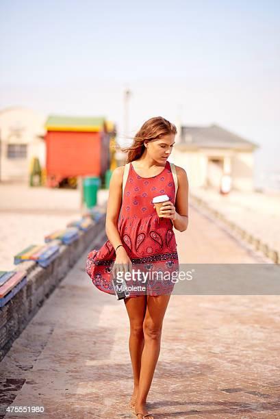 Woman Walking Towards Camera Full Body Smiling Stock ...