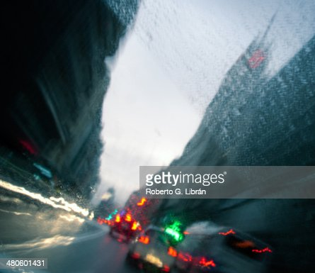 Going through the city : Stock Photo