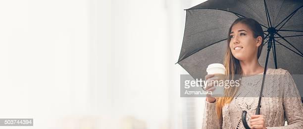 Bei der Arbeit im Regen