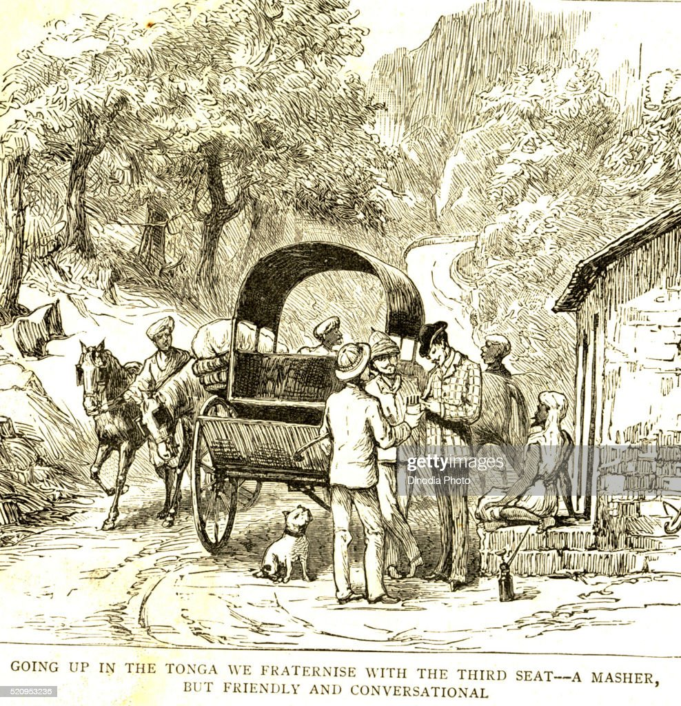 Going up in the tonga we fraternize with the third seat, a masher but friendly and conversational the graphic 27th March 1886