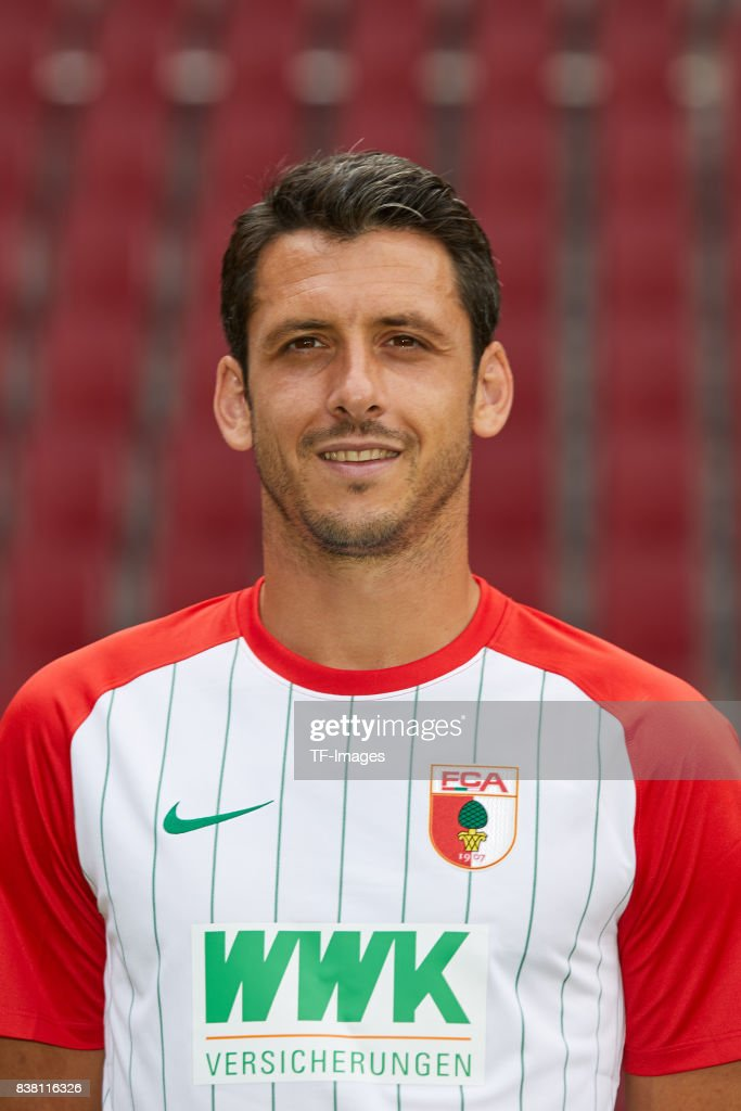 Gojko Kacar of FC Augsburg poses during the team presentation at WWK Arena on July 17, 2017 in Augsburg, Germany.