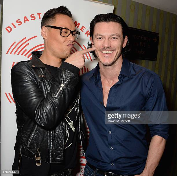 Gok Wan and Luke Evans attend at the 'You'll Never Walk Alone' Gala Concert in aid of the Phillippines Typhoon Appeal at Queen's Theatre on March 2...