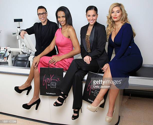 Gok Wan 'checks out' models wearing his second 'Gok for TU' womenswear collection for Sainsbury's at their London Colney Store on November 17 2011 in...