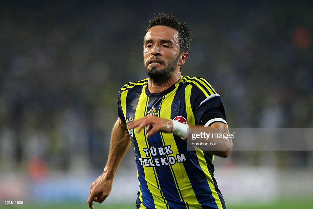 Gokhan Gonul of Fenerbahce SK in action during the UEFA Europa League group stage match between Fenerbahce SK and Olympique de Marseille on September 20, 2012 at Sukru Saracoglu in Istanbul, Turkey.