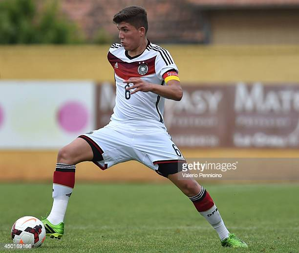 Gokhan Gul of Germany in action during the International Friendly match between U16 France and U16 Germany at Stade Perruc on June 4 2014 in Hyeres...