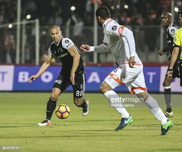 Gokhan Inler of Besiktas in action during the Turkish Spor Toto Super Lig match between Adanaspor and Besiktas at Adana 5 Ocak Fatih Terim Stadium in...