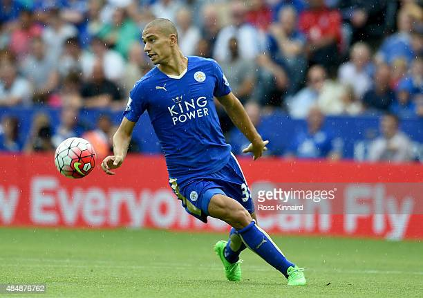 Gokhan Inler of Leicester City during the Barclays Premier League match between Leicester City and Tottenham Hotspur at the King Power Stadium on...