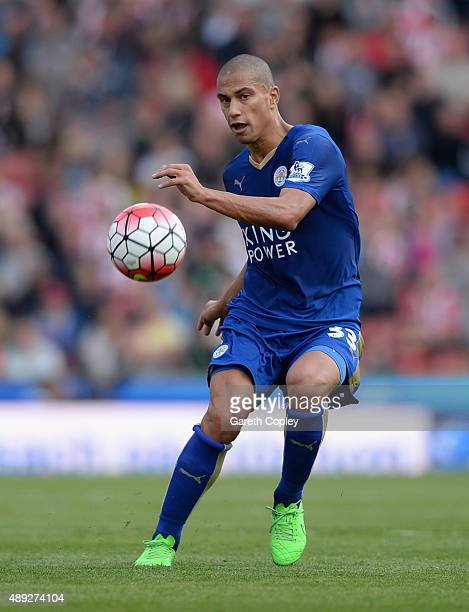 Gokhan Inler of Leicester City during the Barclays Premier League match between Stoke City and Leicester City on September 19 2015 in Stoke on Trent...
