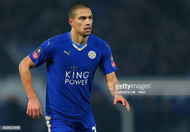 Gokhan Inler of Leicester City during the Emirates FA Cup match between Leicester City and Tottenham Hotspur at King Power Stadium on January 20 2016...