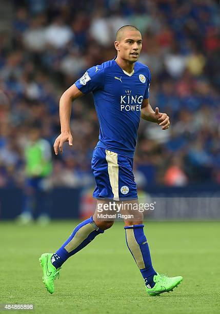 Gokhan Inler of Leicester City in action during the Barclays Premier League match between Leicester City and Tottenham Hotspur at The King Power...