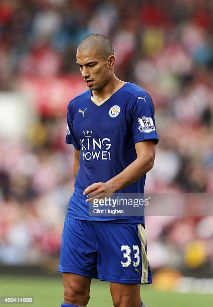 Gokhan Inler of Leicester City in action during the Barclays Premier League match between Stoke City and Leicester City at Britannia Stadium on...