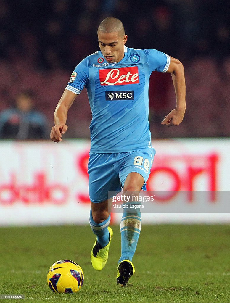 Gokhan Inler of Napoli during the Serie A match between SSC Napoli and AS Roma at Stadio San Paolo on January 6, 2013 in Naples, Italy.