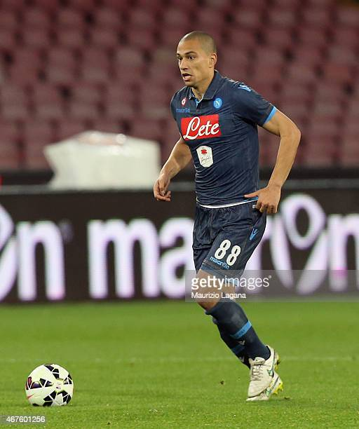 Gokhan Inler of Napoli during the Serie A match between SSC Napoli and Atalanta BC at Stadio San Paolo on March 22 2015 in Naples Italy