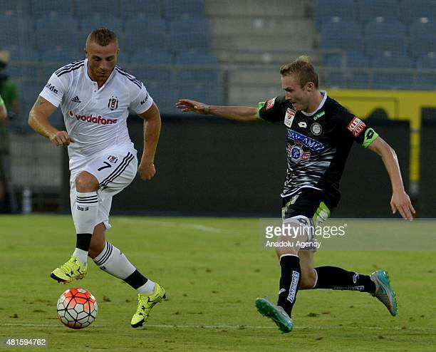 Gokhan Tore of Besiktas in action during a friendly game between Besiktas and Sturm Graz at UPC Arena in Graz Austria on July 22 2015