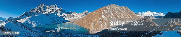 Gokyo Lake panorama Himalaya mountain peaks Nepal