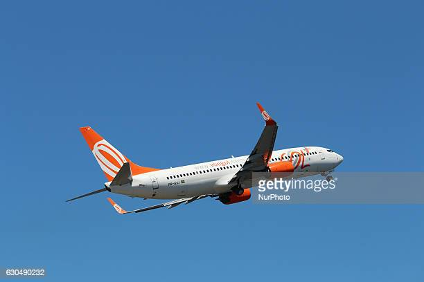 Gol Airplane takes off at Santos Dumont Airport in Rio de Janeiro Brazil on 23 December 2016 With the festivities of Christmas and New Year the...