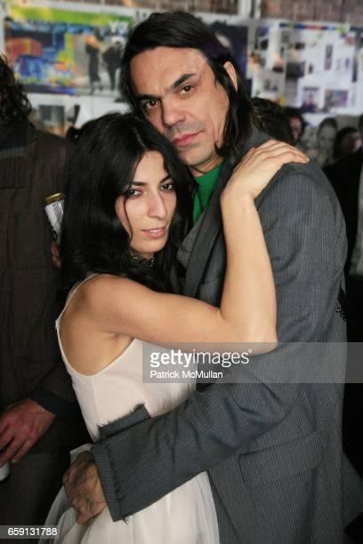 Golaleh Hassanzadeh and Robert Christensen attend RADAR ENTERTAINMENT THE LAST MAGAZINE Toast Fashion Week at Studio 385 Broadway on February 20 2009...